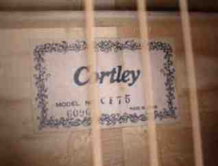 Cortley CF75 Label - Made in Japan