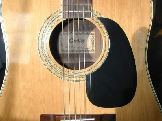 Cortley Top - Abalone Rosette Around Sound Hole and Edge