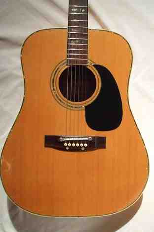 COrtez J 6500 Spruce Top with Abalone around Sound Hole & a Tunomatic Bridge